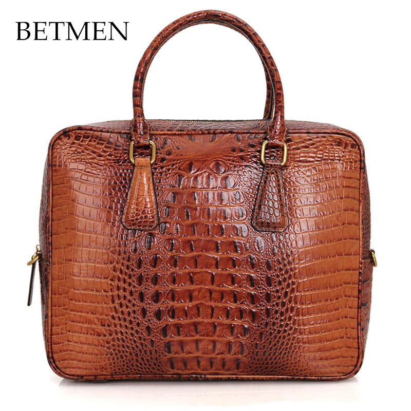 BETMEN Luxury Genuine Leather Bag Brand Men Handbag Shoulder Bags Business Men Briefcase Laptop Bag padieoe luxury men bag split leather classic business men briefcase laptop bags brand handbag