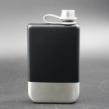 Mealivos Fashion Black Diamonds shine 8 oz Stainless Steel Hip Flask Alcohol Liquor Whiskey vodka Bottle Groomsman gifts