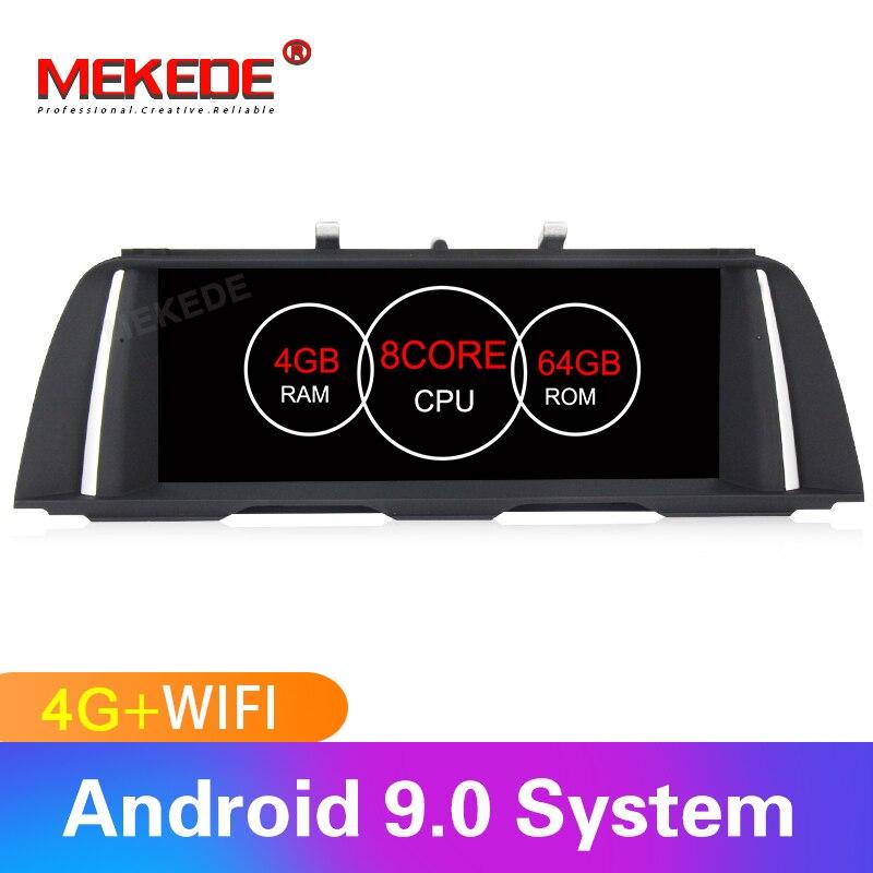 Octacore! mekede android9.0 Smart car multimedia player gps de navegação para BMW Série 5 F10/F11/520 (2011- 2017) CIC/MSM8953 NBT