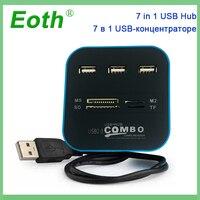 one pc מיקרו- USB Hub 2.0 יציאות משולבות 3 USB גבוהה קורא כרטיסים מהירות ספליטר All In One USB 3.0 Hub או מחשב נייד אביזרים למחשב PC (1)