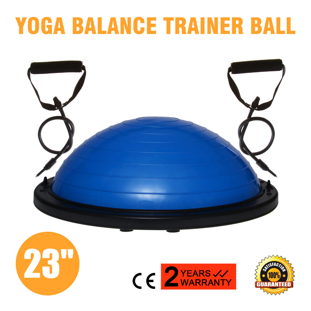 Bosu Ball Balance Trainer Yoga Fitness Strength Exercise With Pump In  Germany Supermarket