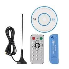 USB 2.0 Digital DVB-T Sintonizador SDR + DAB + FM HDTV TV Receptor del Sintonizador Del Palillo de Realtek RTL2832U + R820T Azul para PC Portátil