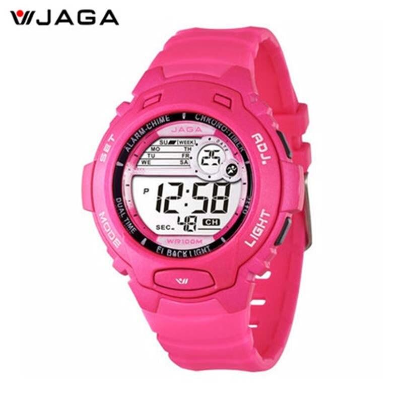 JAGA New Design sieviešu sporta pulkstenis ūdensizturīgs digitālais pulkstenis sievietēm LED daudzfunkciju rokas pulksteņi Bezmaksas piegāde M969