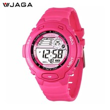 JAGA New Design Women Sports Watch Waterproof Digital Watch For Women LED Multi Function Wristwatches Free