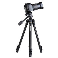 Fashion QingZhuang new model aluminum portable camera tripod , camera monopod with handle head for SLR camera factory direct