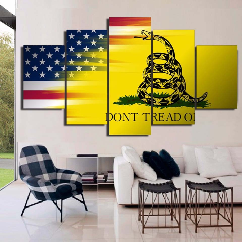 HD Printed Modern Decoration Posters Picture On Canvas 5 Panel Flag ...