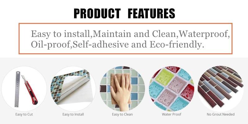 Мозаика самоклеющиеся плитка, панель от брызг стены Стикеры винил Ванная комната Декор для кухни DIY W4