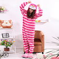 Fleece Onesies Women Men Unisex Cartoon Cosplay Sleepwear Pyjamas Adult Onesie Chesire Cat Unisex Pajamas Popular Halloween
