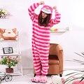 Macacão de lã Mulheres Homens Unisex Chesire Gato Dos Desenhos Animados Cosplay Pijamas Pijama Adulto Onesie Pijama Unissex Popular do Dia Das Bruxas