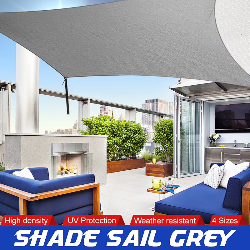 Sun Shade Canopies Sails Outdoor Camping Hiking Yard Garden Shelters Sun Screen Cover Waterproof Cloth 2x1.8/3/4/5m Grey|Shade Sails & Nets| |  - title=