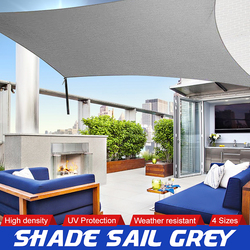 Sun Shade Canopies Sails Outdoor Camping Hiking Yard Garden Shelters Sun Screen Cover Waterproof Cloth 2x1.8/3/4/5m Grey