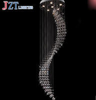 GETOP Crystal Chandeliers Mordern Ceiling Chandelier light Sitting room Bedroom light Villa Duplex Staircase light LED GU10