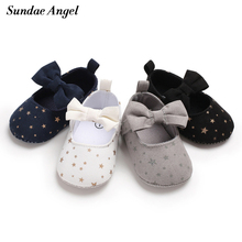 Sundae Angel Toddler Girls Shoes First Step Lace Up Butterfly Knot Non-slip Cott