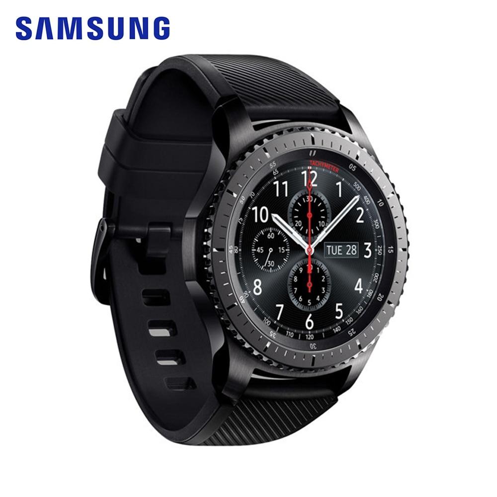 Samsung Gear S3 Frontier Smartwatch GPS Bluetooth Fitness fréquence cardiaque montre intelligente étanche pour iPhone Android réponse et appels