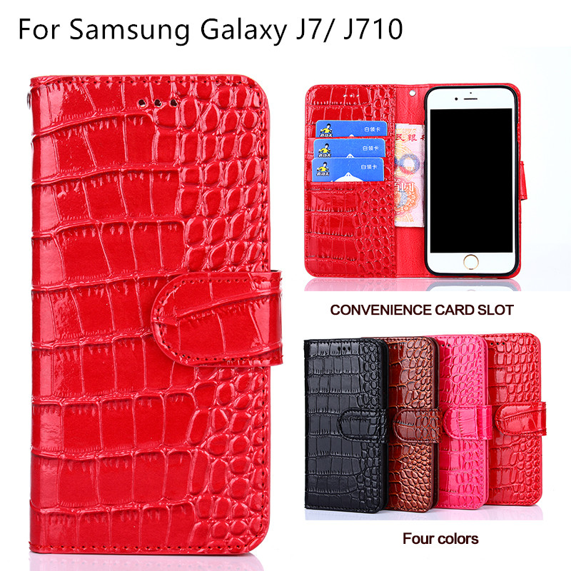 Wallet Style Cover Case For Samsung Galaxy J7 2016 Leather Flip Cover For Samsung Galaxy J7