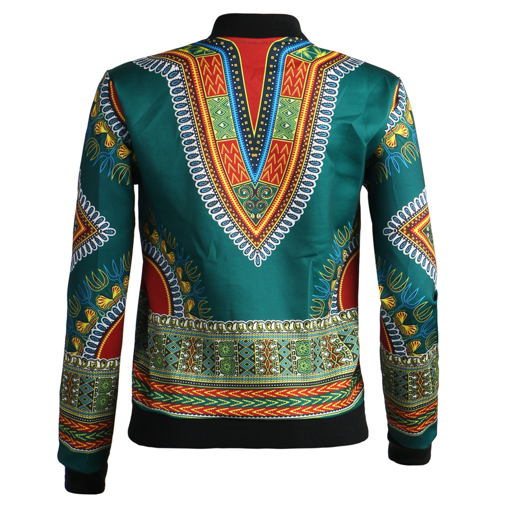 African Print Jacket Women Dashiki Long Sleeve Fashion Dashiki Short Casual Jacket