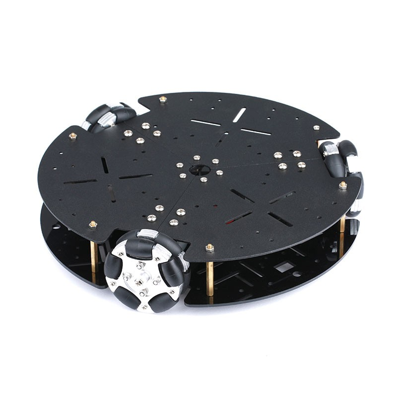2018 58mm omnidirectionnel métal roue Robot voiture châssis pour Arduino voiture châssis omnidirectionnel Mobile plate-forme bricolage voiture intelligente