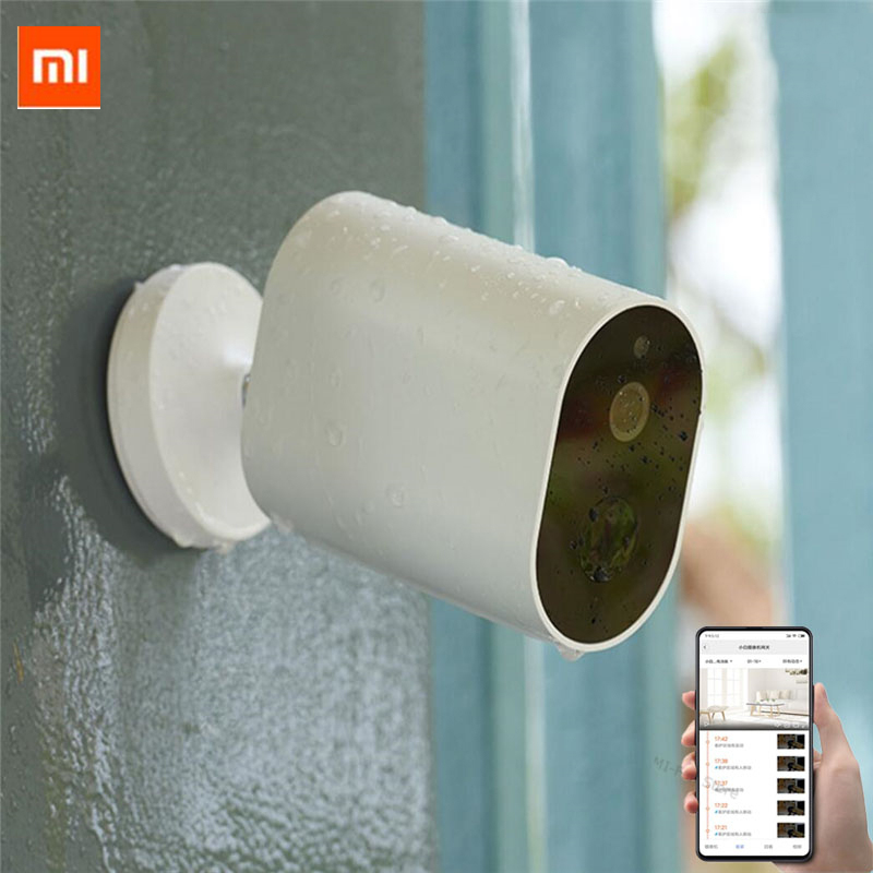 Xiaomi Smart Camera 1080P With Battery Gateway 120 Degree IP 65 Waterproof AI Humanoid Detection Work With Mi Home APP(China)