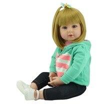 Reastic блондинка кукла reborn 22 «силиконовые куклы младенца высокого качества дети кукла подарок bebe живые возрождается bonecas