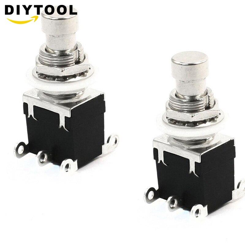 Эффект устройства ножной переключатель DPDT моментальный без замка 6 ножной контактный кнопочный переключатель AC 250V/2A 125V/4A
