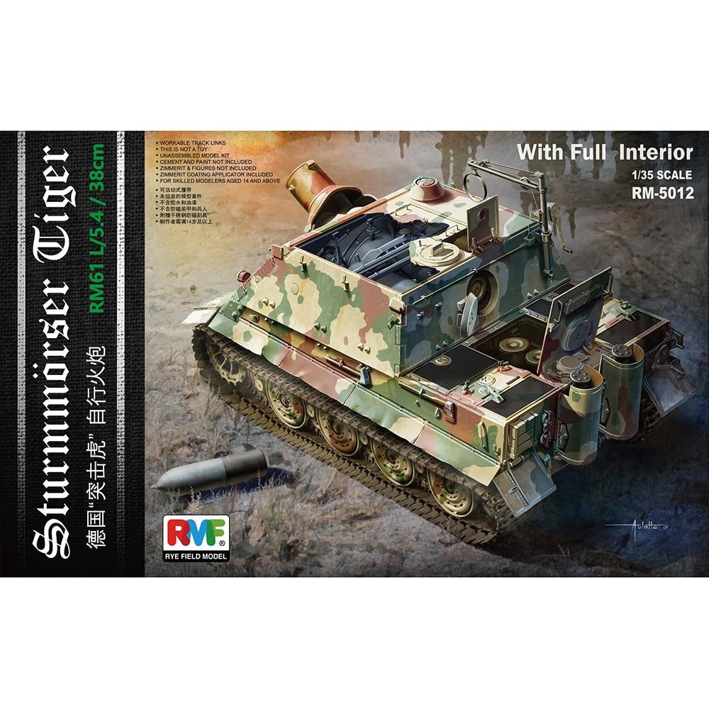 1 35 RYEFIELD MODEL RM5012 Sturm Tiger RM61 L 5 4 38CM Model hobby