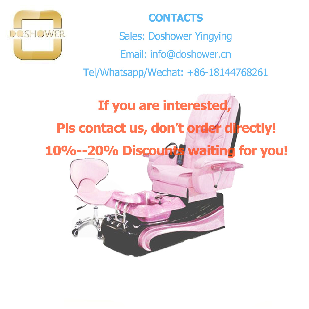 Doshower pink salon chairs with pedicure tools of pedicure chair bench Пирсинг ушей
