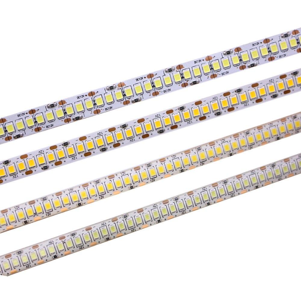 5M 12V IP65 Waterproof IP20 2835 non waterproof Flexible light LED Strip tape 240led/m showcase led more bright warm white цена 2017