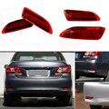 2 PCS Freio Parada Cauda LEVOU Choques Refletor Traseiro Running Luz de Nevoeiro Para Toyota Corolla 2011 2012 2013