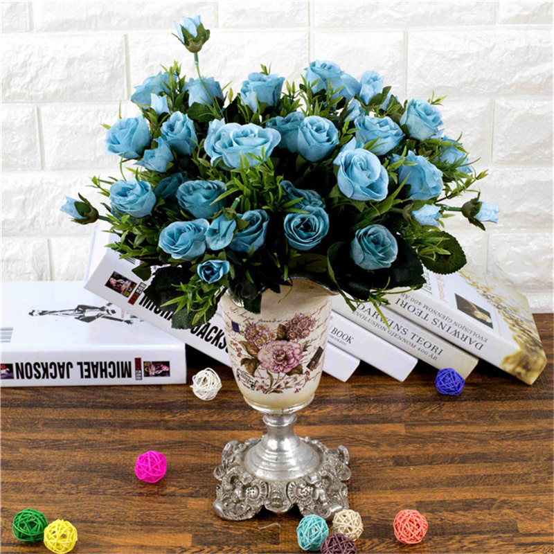 Silk artificial flower oil painting french roses simulation flowers silk artificial flower oil painting french roses simulation flowers factory direct sales wedding festive supplies in artificial dried flowers from home mightylinksfo
