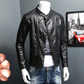 ARGY Men's PU Leather Jackets Antumn Winter Coats Fashion Slim Faux Leather Male Jacket O-Neck Jaqueta De Couro Masculina 5383
