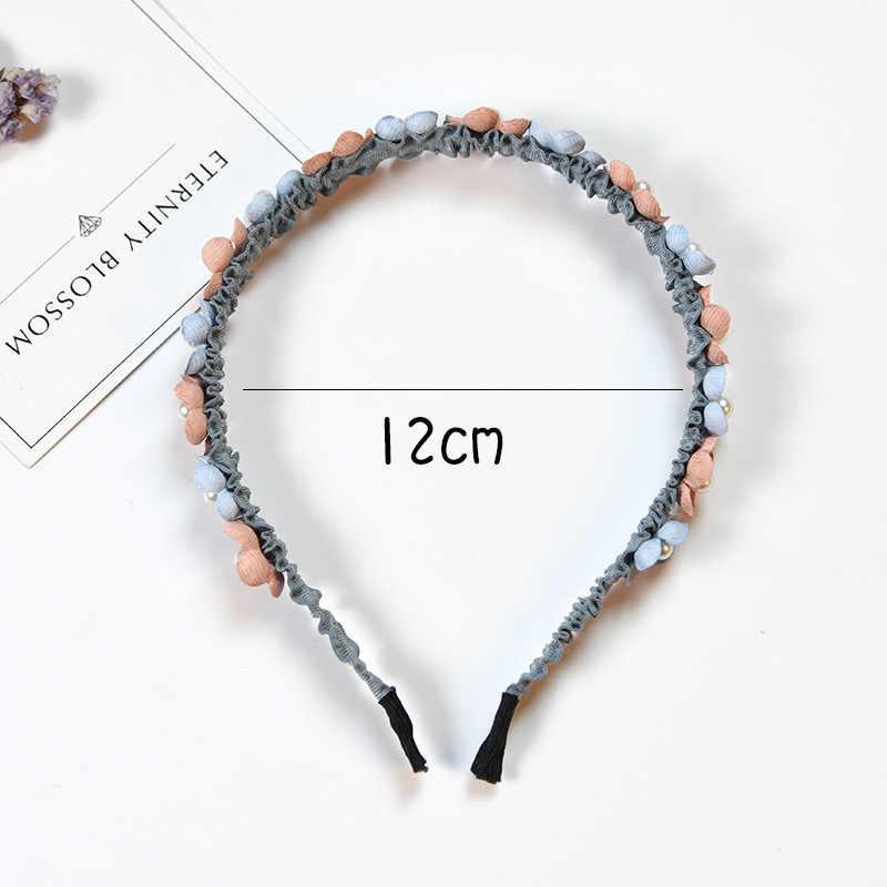 เกาหลีดอกไม้สำหรับสาว Rhinestone Crown Hairbands คุณภาพสูงผู้หญิงหญิงอุปกรณ์เสริมผม Handmade เครื่องประดับ