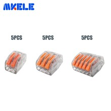 15PCS connector 5pcs 2P + 3P 5P Universal Compact Wire Connector Conductor Terminal Block