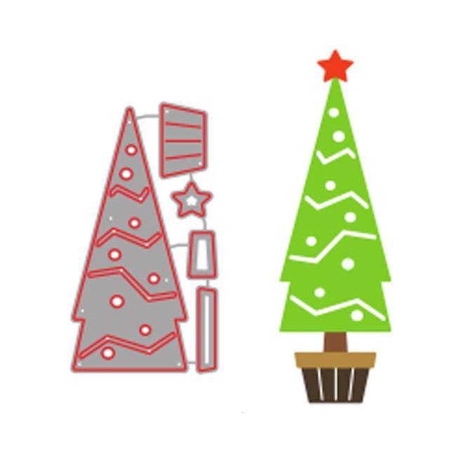 New 2018 Diy Christmas Tree Metal Cutting Dies Paper Craft
