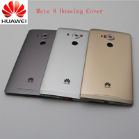 Original Metal Rear Housing Cover Replacement Back Door Battery Case For HUAWEI Mate 8 With Camera Lens+Power Volume Buttons