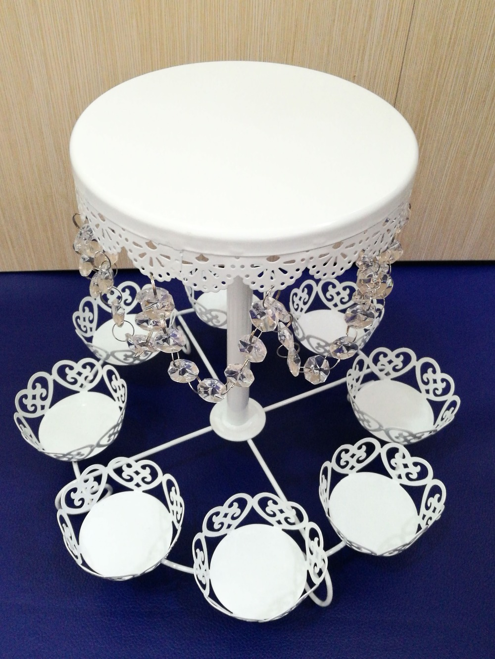 hot sale lace crystal wedding cupcake stand cake tray decoration cake Muffin cupcake dessert display holder