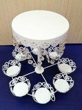Heißer verkauf spitze kristall hochzeitskuchenständer kuchenbehälter dekoration cupcake dessert display halter