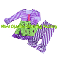 Hot Sale Ruffle Outfit Sets Baby Girl Clothes Fashion Clothing Halloween Outfit Winter Sets