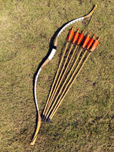 white bow Archery 00-60 lbs Bow Hunting Practice archery+6 arrows