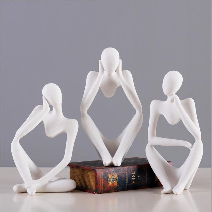 Abstract thinkers sculpture Figure resin statuette creative figurine ornaments modern home decoration accessories wedding gifts