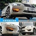 Hireno Автомобилей DRL Водонепроницаемый ABS 12 В Дневные Ходовые Огни для Nissan Teana Altima 2013-15 Противотуманные Фары 2 ШТ.