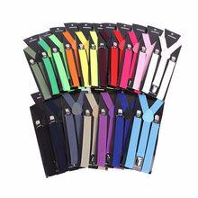 1cbd46d0600 Unisex Adult Men s Suits Candy Color Suspenders Men 3 Clip Buckle Suspenders  for Women Belt Strap
