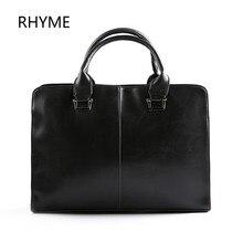 Rhyme New Fashion Men Bags Genuine Leather Business Travel Messenger Bag Brand Design Men's Shoulder Bag 2 Colors