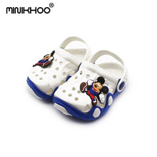 Mini Melissa 6 Color Children Cartoon Sandals 2018 New EVA Melissa Girl Boy Garden Sandals Mickey Beach Sandals 6Color Non-slip(China)