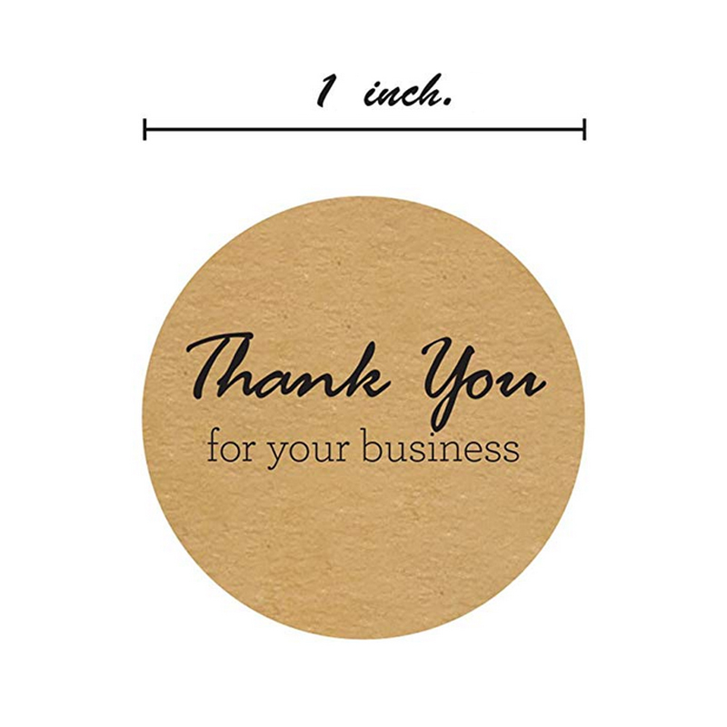 1000CPS 1 inch thank you Stickers Scrapbooking Hand Made Handmade Label Wedding Stickers Adhesive Sticker Kraft Round Labels in Party DIY Decorations from Home Garden