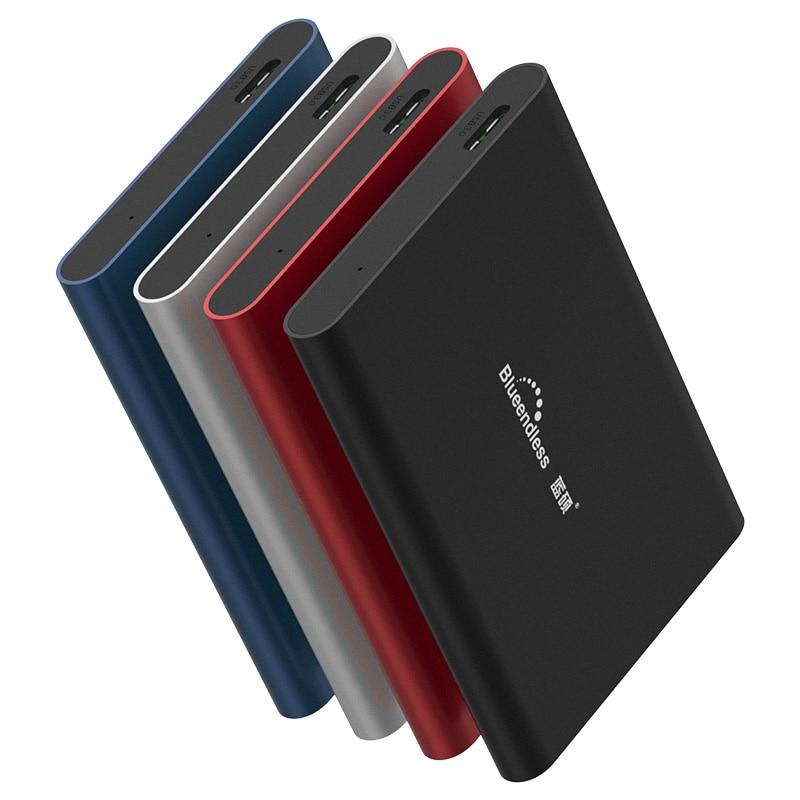 Blueendless Tragbare Externe Festplatte 1 Tb USB3.0 500g HDD Für Computer Und Laptop Festplatte 2 TB Speicher Geräte HD Externo