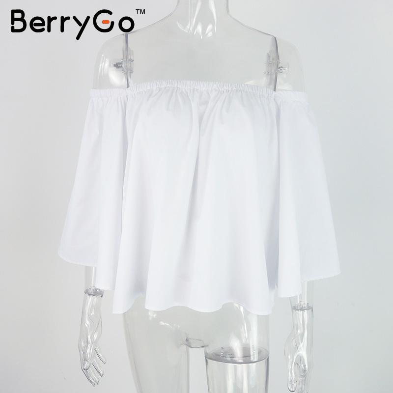 HTB1hURgLXXXXXaCXpXXq6xXFXXXK - Sexy off shoulder white blouse women Ruffle PTC 95