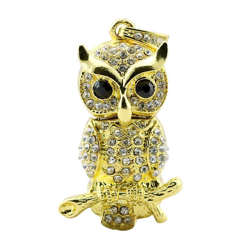 verklig kapacitet USB Flash Drive Diamond Metal Material Owl Cartoon - Extern lagring - Foto 4