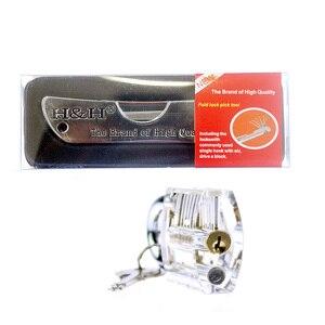Image 4 - H & H, outil de serrurier pliant 6 en 1, ensemble de serrurier de poche avec serrure transparente