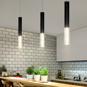 Image 2 - Led Pendant Dimmable Hanging Lights Kitchen Island Dining Room Shop Bar Counter Decoration Cylinder Pipe  Lamps