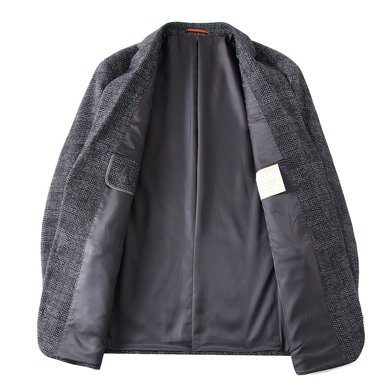 New arrival moda bardzo duża mężczyźni garnitur kurtka luźny z wełny chusta na co dzień pojedyncze łuszcz mężczyzna Blazers plus rozmiar XL 4XL5XL6XL7XL w Marynarki od Odzież męska na  Grupa 3